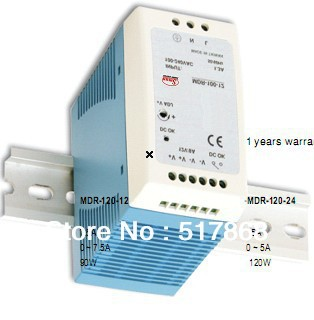 120W 12V 10A Din-rail switching power supply with CE ROHS  1 year warranty OEM factory<br>
