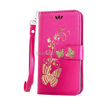 Bling Butterfly Flower Wallet Leather Case For Iphone X I8 8Plus 8 7 Plus For Huawei P9 P10 Glitter Floral Stand Cover 50pcs