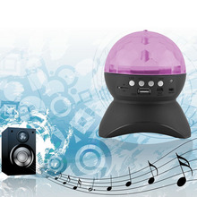 Disco Ball Home Party Light Speaker, Kid Christmas Gift DJ Stage Lighting with Wireless Bluetooth Speaker(China)
