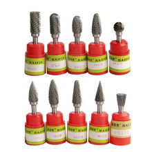 Carbide Rotary Burrs Tungsten Alloy Steel Grinding Head 6mm Shank Diameter Rotary File 1 Pcs Abrasive Tools(China)