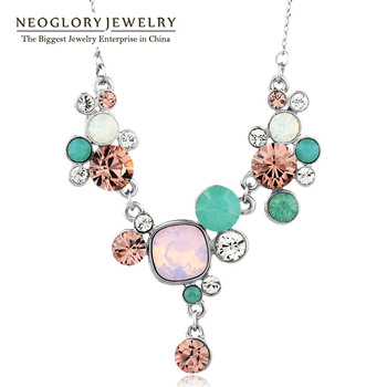 Neoglory MADE WITH SWAROVSKI ELEMENTS Crystals Chain Chokers Boho Maxi Collar Necklaces & Pendants 2017 Fashion Jewelry JS1