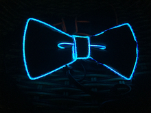2016 Fashion Glowing Flashing EL sound activated electroniC DJ's,bow Tie for party ,bar,club with free shipping