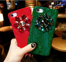 Phone Case for iPhone 7 Rhinestone Mobile Phone Covers for iPhone 6 Funda 6s Plus 8 8 Plus Luxury Diamond Smartphone Coque 240S(China)