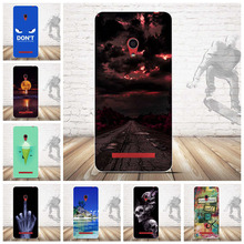 Luxury Slim Clear Cover Fundas for ASUS Zenfone 5 A501CG Cartoon Pattern Owl Case TPU Gel Back Cover Soft Silicone(China)
