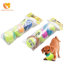 1bag Tennis Ball Durable Pet Dog Chew Toy Paw Printed Puppy Dog Outdoor Toy for Small Dogs Training Toys DOGGYZSTYLE(China)