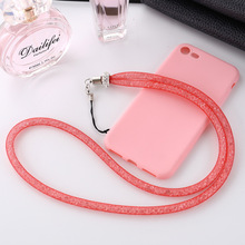 New Grid Crystal Lanyard 4 Colors Phone Straps For Cord Phone Hand Rope Key Card Mp3 Mp 4 USB Driver Hot Sales Wholesale