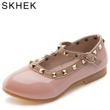 SKHEK Brand RiveT 2017Trend New Rivets Girls Shoes Kids Shoes Children Leisure Sports Shoes Rubber Sole Breathable PUMaterial