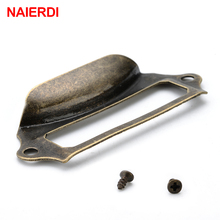 NAIERDI Antique Brass Metal Label Pull Frame Handle File Company Name Card Holder For Furniture Cabinet Drawer Box Case Hardware