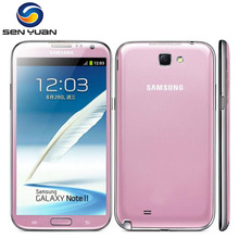 Original Samsung Galaxy Note 2 N7100 Quad Core 2GB RAM 16GB ROM Unlocked 3G WIFI GPS n7100 cell phone(China)