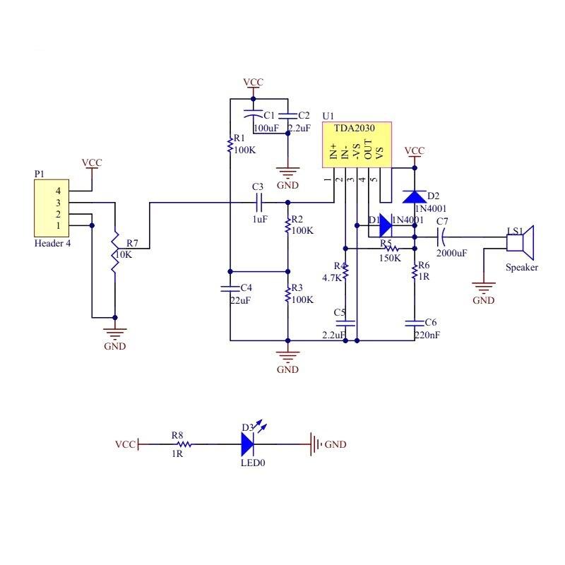 TDA2030A Modu00fclu00fc DIY Kiti Paru00e7alaru0131 6-12 V Tek Gu00fcu00e7 Kaynau011fu0131 Ses Amplifikatu00f6r Kurulu Modu00fclu00fc.
