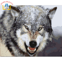 40x50cm framed digital oil painting by numbers diy home decoration paint on canvas unique gift craft picture animal of wolf Y033