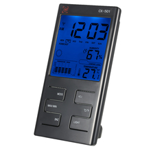 Indoor LCD Digital Temperature Humidity Meter Clock Thermometer Hygrometer Temperature Trend Comfort Level Alarm Hourly