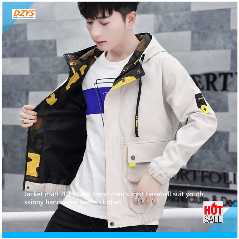 Jacket man 2019 New trend men's coat baseball suit youth skinny handsome men's clothes New arrival spring men's clothing