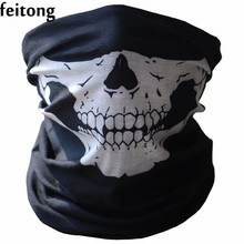Feitong Fashion Ring Scarf Bicycle Skull Half Face Scarf Ghost Men Scarf Multi Neck Warmer Scarves Bufandas Foulard Femme A02
