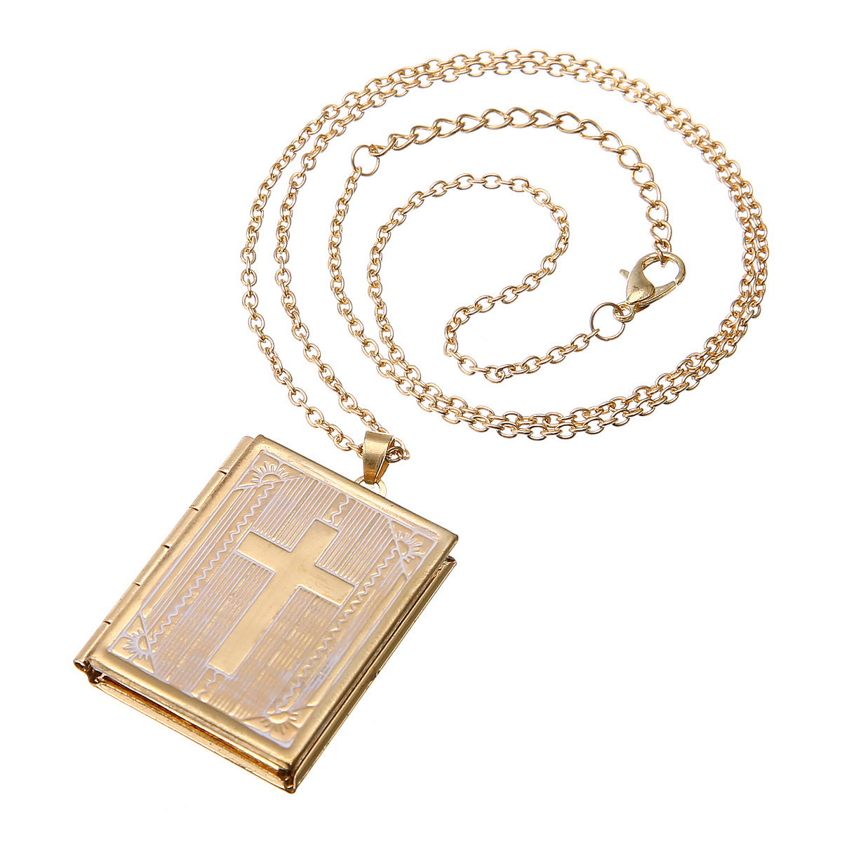 Romantic Sweet Love Heart Picture Photo Frame Memory Locket Pendant Necklace Beautifully Carved Box Gold Chain Charms Jewelry