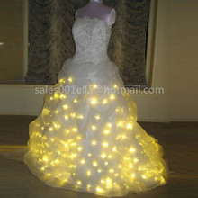 Led Luminous Wedding Dress LED Light Up Growing Evening Costume Stage Suit Party For Club Bar Christmas Wedding Decoration