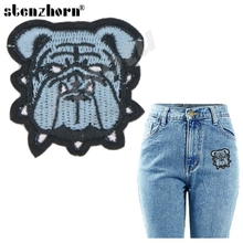 small size little dog logo clothes patches for clothes DIY jeans badges for clothes(China)