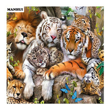 Diamond Embroidery 5d DIY Diamond Painting The Lion Tiger Picture Diamond Painting Cross Stitch Rhinestone Decoration AA149