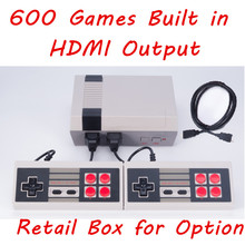 HDMI Mini TV Game Console Retro Video Game Console For Nes 8 Bit Games with 600 Different Built-in Games Double Gamepads