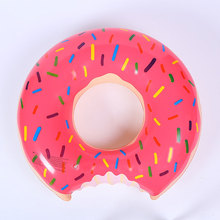 PVC Increase Thickening Doughnut Pool Swimming Ring For Woman Sweet Dessert Giant Inflatable Life Buoy Swimming Circle Ring