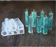 Liquid silicone mold DIY resin jewelry pendant necklace pendant lanugo mold free shipping