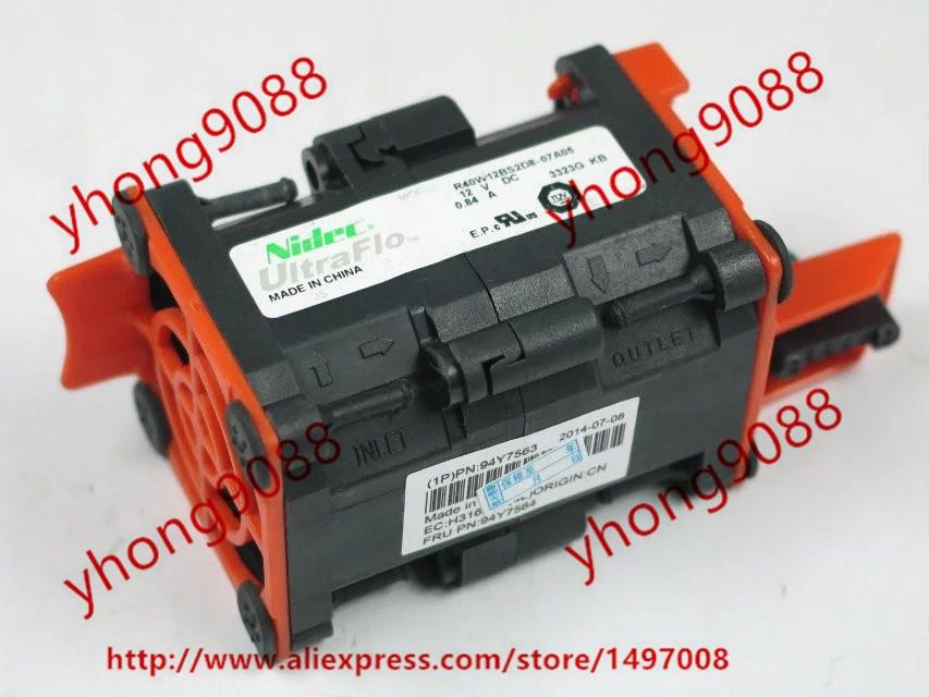 Nidec R40W12BS2D8-07A05 DC 12V 0.84A 40x40x56mm Server Square  Fan<br>