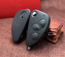 3 Buttons Uncut Blade Remote Car Key Case Shell Key Combo Flip Fob Car Key Shell for Alfa Romeo 147 156 166 GT(China)