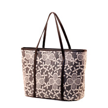 Wholesale Tote Bags for Women Shopping Bag 2017 New Tide Flowers Lace Pattern Handbags Large Capasity Shoulder Bag Messenger Bag