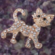 FAMSHIN New Shining gold luxury full Rhinestone Tiger vintage wedding gift brooch fine jewelry and fashion brooches for women(China)