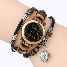 New Year Gifts Heart Pendant Quartz Women Wristwatch Vintage Ladies Beads Bracelet Watches For Women Clock Montre Femme Hours(China)