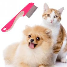 Pet Dog Hair Flea Comb Dog Cat Stainless steel Grooming Brush Comb Cleaner Tool