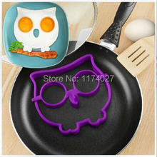 Free shipping 1pcs egg owl egg shaper silicone moulds owl egg ring silicone mold cooking tools christmas supplies