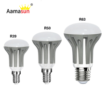 Dimmable R39 R50 R63 LED lamp E14 E27 bulb light 3W 5W 7W AC220V 230V 240V lampada led Spotlight warm white/white/cool white