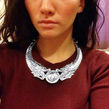 FUNIQUE Antique Chinese Style Women Chokers Necklaces Blade Maxi Statement Necklace Women Boho Bohemian Double Dragon Necklace