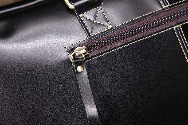 Vintage Handbags Men Genuine Leather Men's Shoulder Bag Large Anti Theft Laptop Business Briefcase Male Messenger Crossbody Case