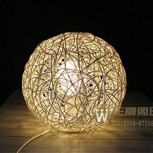 Rustic rattan table lamp ofhead ball lamp mt1105<br><br>Aliexpress