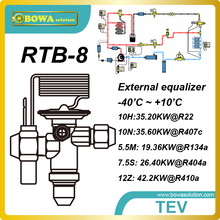 RTB-8  42.2kw(R410a) bi-flow TEV is installed in heat pump water heater and air conditioner and reduce refrigeration omponents