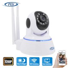 High quality!!  1 PCS 720P HD 11LED Night Vision IR Webcam  Wireless IP Camera WiFi Pan Tilt Security CCTV Wifi P2P Camera