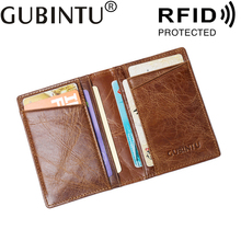 Buy Porte Carte Genuine Leather Business ID Bank Credit RFID Card Holder Men Wallet Purse Case Male Bag Cover Pocket Cardholder for $7.98 in AliExpress store