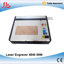 MINI 2D crystal laser engraving machine LY 4040 co2 laser cutting machine 50W Super quality with all functions