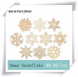 10pcs-Assorted-Snowflake-Wooden-Laser-Cut-Embellishment-Christmas-Tree-Ornament