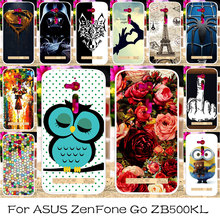 TAOYUNXI Silicon Plastic Phone Case For ASUS ZenFone Go ZB500KL ZB500KG Bag Cover For ASUS ZenFone Go ZB500KL Case Cover(China)