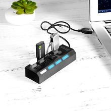 NEW Micro 4 Port USB Hub 2.0 High Speed USB 2.0 Hub USB Splitter With ON/OFF Switch For Tablet Laptop Computer Notebook
