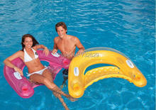 Intex inflatable floating pool chair handle floating row chair inflatable bed lounge suitable for less than 100 KG people(China)