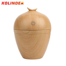New Wood grain Electric Aroma Diffuser Mini USB Ultrasonic Humidifier For Car Office Silent LED Light Moisturizing Mist Make