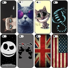 For iPhone 5s SE Case USA UK Flag Design Protective Hard Cover For Apple i Phone iPhone 5 5S Phone Back Fundas Coque