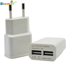 Hot-sale White High Quality EU Plug 2A 2 USB Port Wall Home Travel AC Charger Adapter For Oneplus 3 Three