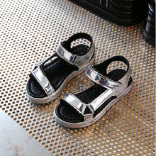 Kids Sandals Sports 2017 New Summer Classical Boys Sandal Letters Girls Shoes PU Leather Children Shoe Soft Soles EU 27~37
