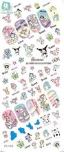 RU2PCS DS048 Water Foils Nail Art Sticker Harajuku Cartoon Style Manicure Decals Minx Nail Decorations Stickers for Nail(China)