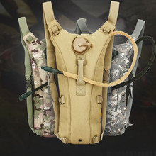 Outdoors Tactical Military Water Hydration Carrier BackPack with Shoulder Strap 2.5 L Bladder Bite Valve Drink Tube Sand
